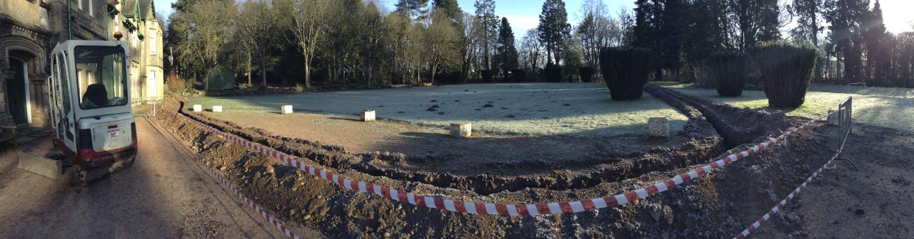 Trench in front of Wiston Lodge