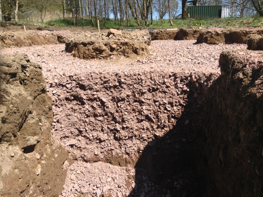 Cross section of our foundations.