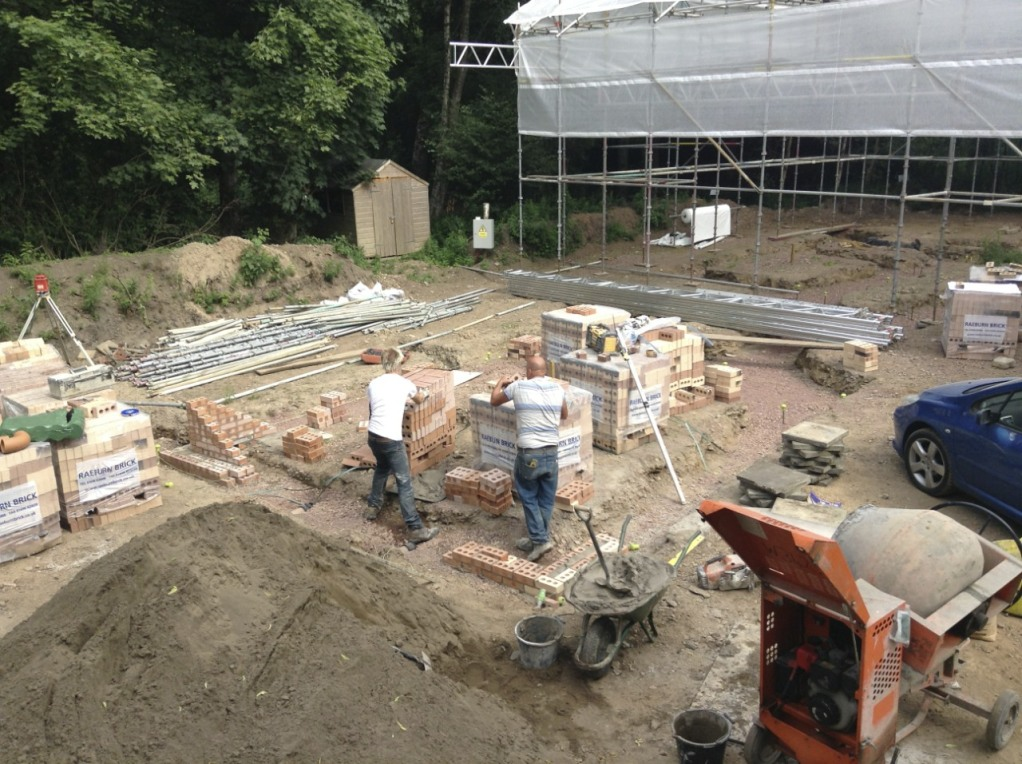 First bricks laid (for the Peerie Hoose)