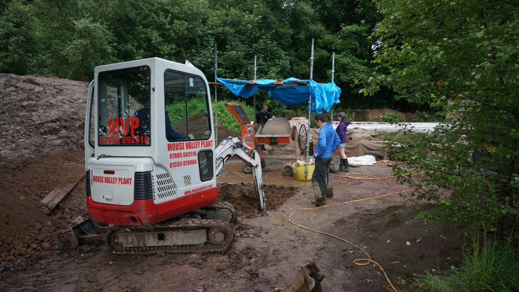 Digging a land drain